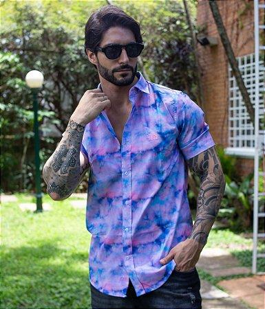 Camisa Tie Dye Azul & Rosa