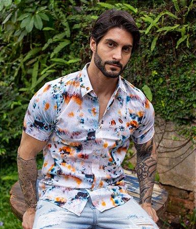 Camisa Tie Dye Laranja & Azul