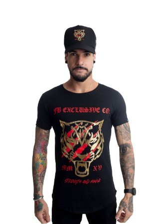 Camiseta Tigre Foil Dourado