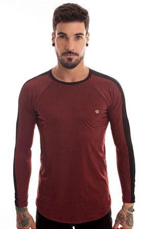 Camiseta Raglan Suede Vinho