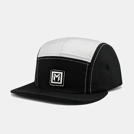 Five Panel Manos Caps Preto e Branco - FP BLACK WHITE