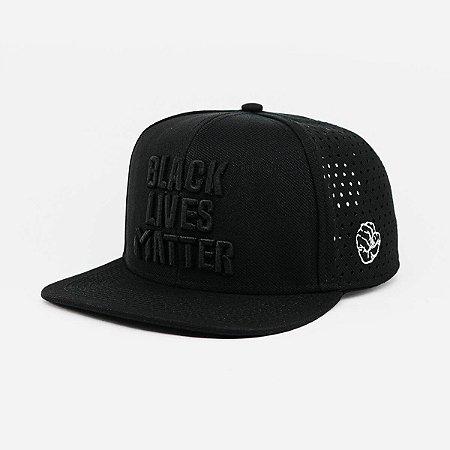 Boné 6 Gomos Aba Reta Black Lives Matter - AR BLACKLIVES