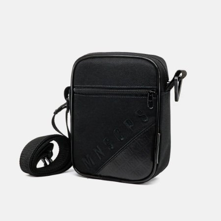 Shoulder Bag Preto Com Recorte - SB BLACK IN BLACK