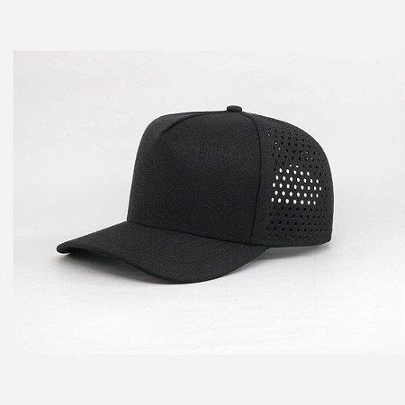 Boné Furos Laser Preto - BS FURO BLACK