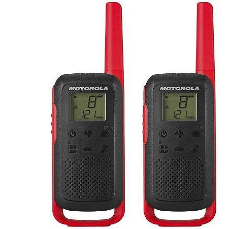 RADIO MOTOROLA TALKABOUT T210BR 32KM PRETO E VERMELHO
