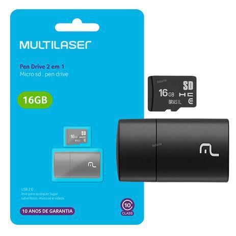 MULTILASER MEMORIA MICRO SD 16GB 2X1 MC162