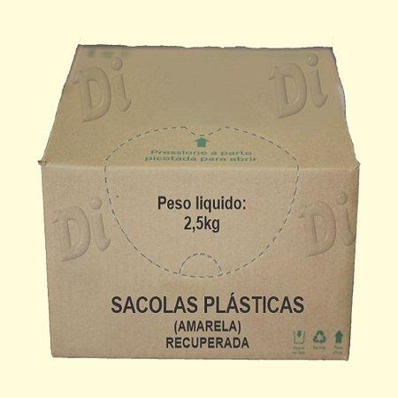 Sacola plástica 30x45cm reciclada - 2,5Kg Cxa