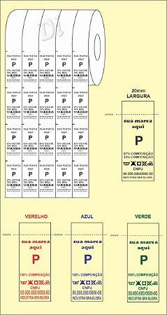 ETIQUETA de NYLON para COMPOSIÇÃO - Largura 20mm - BIRÔ