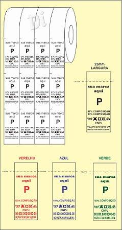 ETIQUETA de NYLON para COMPOSIÇÃO - Largura 25mm - BIRÔ