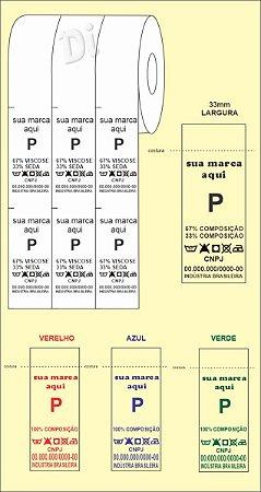 ETIQUETA de NYLON para COMPOSIÇÃO - Largura 33mm - BIRÔ