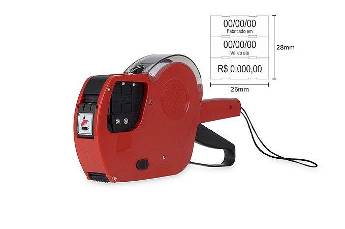 Etiquetadora preço val fab lote MX 2628 3 linhas de impressão