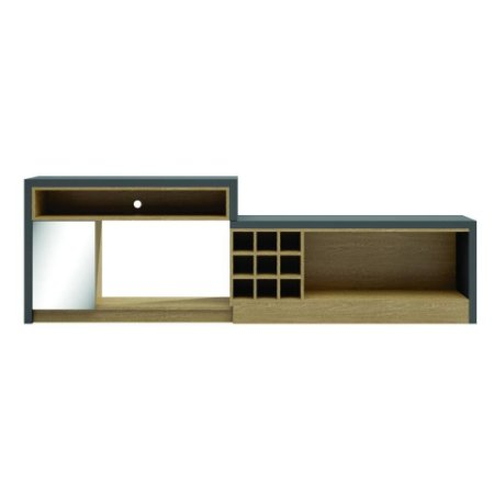 Rack extensível com 01 porta espelho TB221E - Dalla Costa