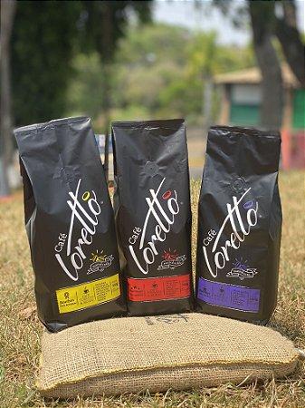 Café Moído Loretto Bourbon Amarelo, Premium e Gourmet (Kit)