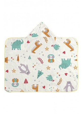 Toalha com capuz - Elefante e girafa