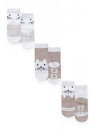 Kit 3 pares de meia - Sortido