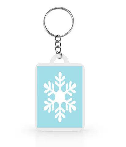 Chaveiro para Lembrancinhas Flocos de Neve