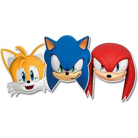 Máscara Sonic - 6 unidades