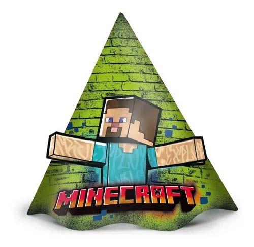 Chapéu de Festa Minecraft - 12 unidades