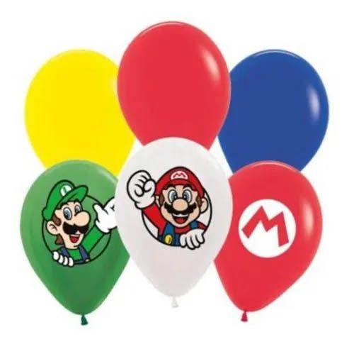 Balão Mario - 12 unidades