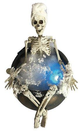 Enfeite Esqueleto no Banho com Luz