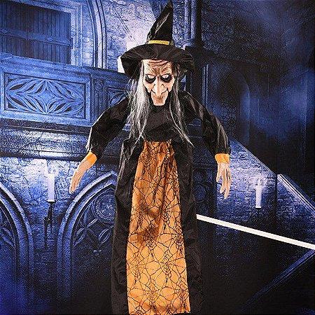 Bruxa Eletrônica Falante Halloween