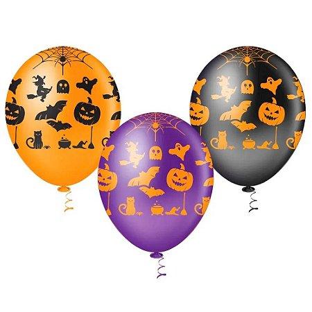 Balão Halloween Fantasia - 25 unidades