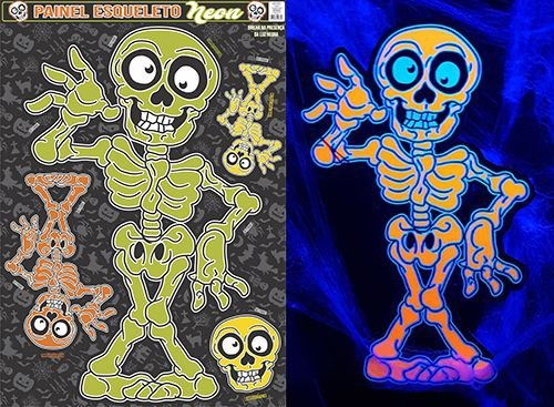 Painel Esqueleto Neon