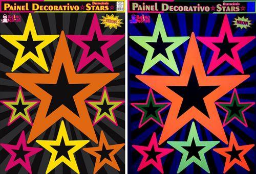 Painel Estrelas Neon