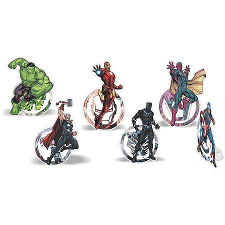 Decoração de Mesa Vingadores - 6 unidades