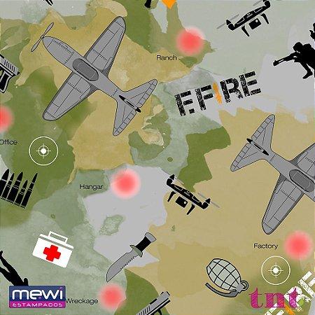 TNT Estampado Guerra de Fogo - 1 metro