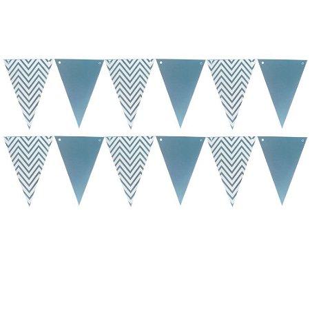 Bandeirola de Papel Metalizado Azul