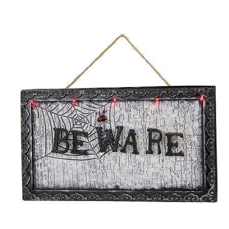 Placa Beware Som e Movimento
