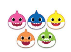 Apliques EVA Baby Shark - 5 un