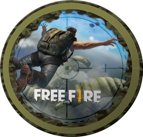 Prato de Festa Free Fire - 8 unidades