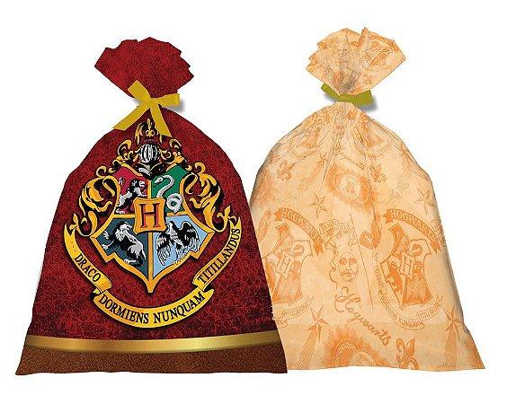 Sacola de Festa para Lembrancinhas Harry Potter - 8 unidades
