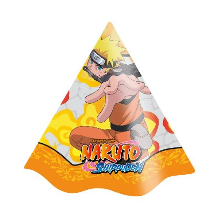 Chapéu de Festa Naruto - 8 unidades