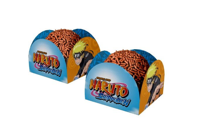 Porta Forminha para Doces Naruto - 40 unidades