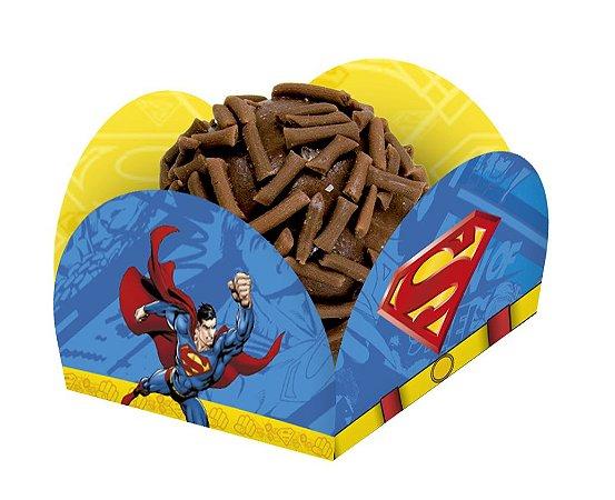 Porta Forminha para Doces Superman - 40 unidades