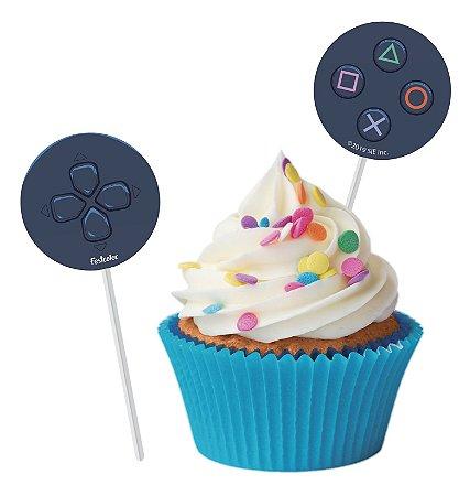 Pick Decorativo PlayStation - 8 unidades