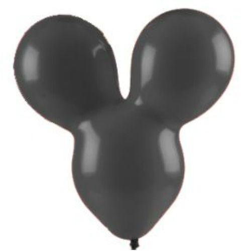 Balão Mouse Family Preto N10 - 12 unidades