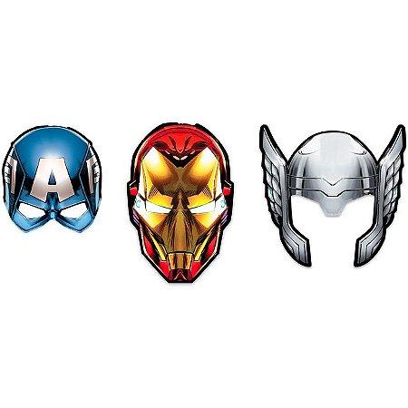 Máscara Vingadores - 6 unidades