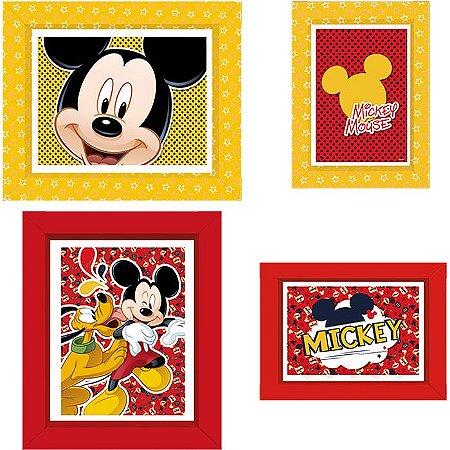 Quadrinhos Decorativos Mickey - 4 unidades