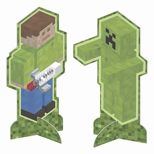 Enfeite de Mesa Minecraft - 8 unidades