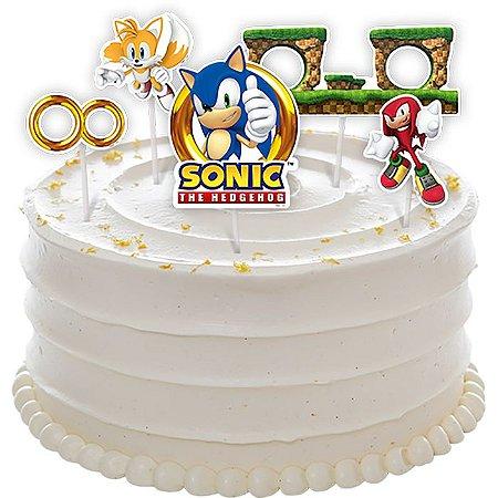 Topo de Bolo Sonic