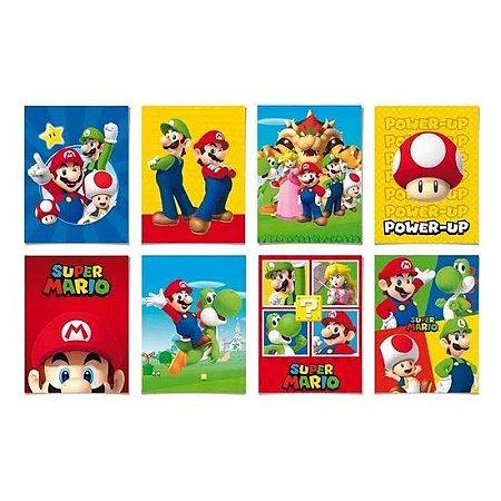 Cartaz Decorativo Super Mario Bros - 8 unidades