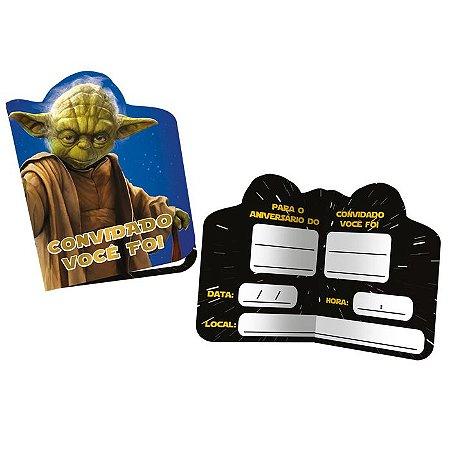 Convite de Festa Star Wars - 8 unidades