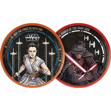 Prato de Festa Star Wars - 8 unidades