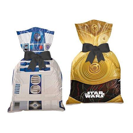 Sacola de Festa para Lembrancinhas Star Wars - 8 unidades
