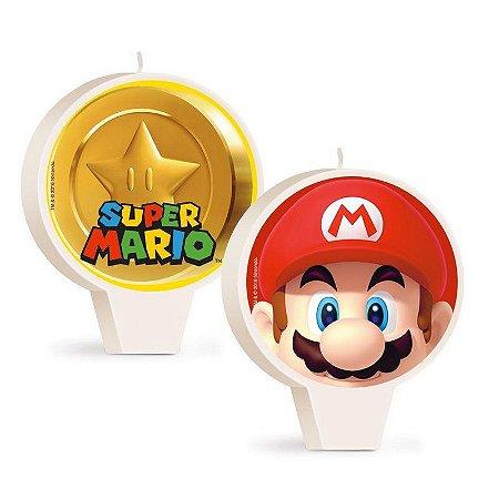 Vela Temática Super Mario Bros