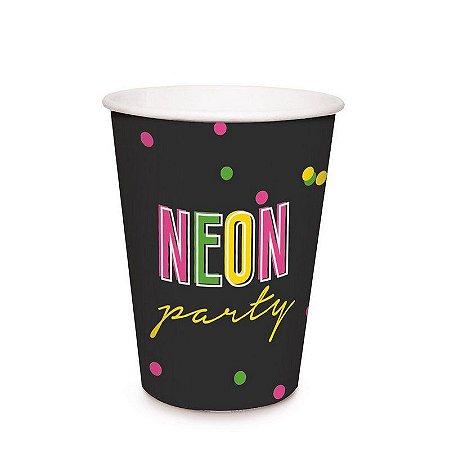 Copo de Festa Neon - 8 unidades